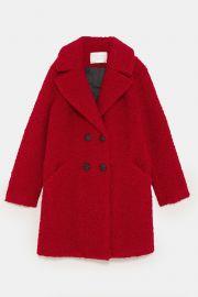 Faux Shearling Colored Coat at Zara