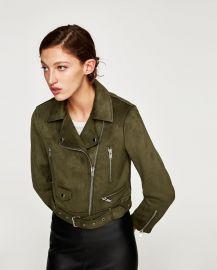 Faux Suede Biker Jacket at Zara