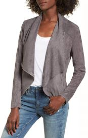 Faux Suede Drape Front Jacket by BlankNYC at Nordstrom