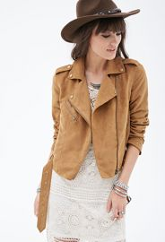 Faux Suede Moto Jacket  Forever 21 - 2000136073 at Forever 21