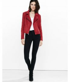 Faux Suede Moto Jacket at Express