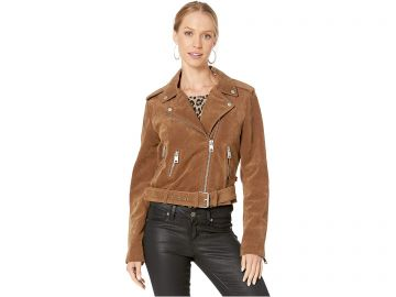 Faux Suede Moto Jacket by Levis at Zappos