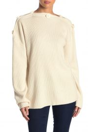 Faye Button Knit Sweater Top at Nordstromrack