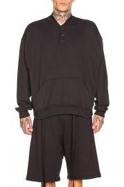 Fear of God Everyday Henley Sweatshirt in Vintage Black   FWRD at Forward