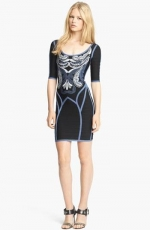 Feather embroidered dress by Herve Leger at Nordstrom