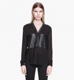 Feathery viscose blouse at Helmut Lang