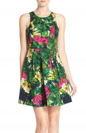 Felicity   Coco Floral Print Fit   Flare Dress  Regular   Petite   Nordstrom Exclusive at Nordstrom