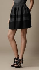 Felted Colour Block Skirt at Burberry