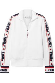 Fendi - Embroidered cotton-blend jersey track jacket at Net A Porter