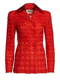 Fendi - Organza Sequin Collar Double-Breasted Jacket at Saks Fifth Avenue