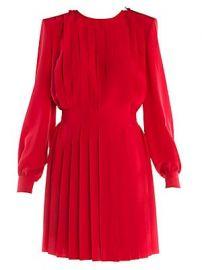 Fendi - Pleated Crepe De Chine Dress at Saks Fifth Avenue