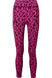 Fendi - Printed stretch leggings at Net A Porter