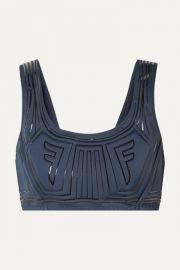 Fendi - Printed stretch sports bra at Net A Porter