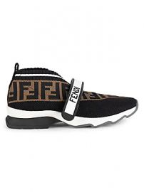 Fendi - Rockoko Knit Sneakers at Saks Fifth Avenue