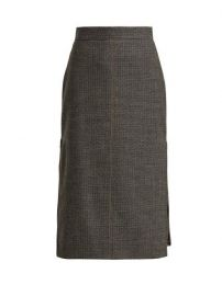 Fendi Checked Pleated-insert Wool-blend Skirt at Matches