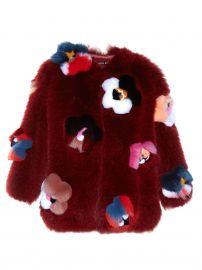 Fendi Flowerland Applique Fur Coat at Matches
