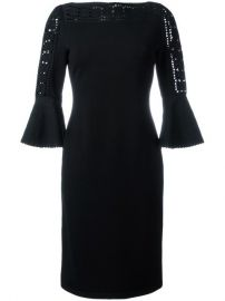 Fendi Geometric Lace Knit Dress at Farfetch