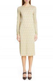 Fendi Long Sleeve Logo Jacquard Sweater Dress   Nordstrom at Nordstrom