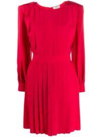 Fendi Pleated Shift Dress - Farfetch at Farfetch