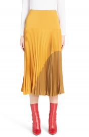 Fendi Pleated Silk Cr  pe de Chine Skirt   Nordstrom at Nordstrom