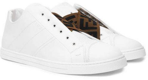 Fendi Reloaded Logo-Trimmed Slip-On Sneakers at Mr Porter