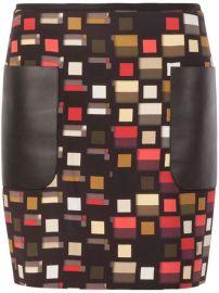 Fendi Square Print Mini Skirt - at Farfetch