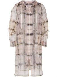 Fendi Zipped Sheer Plaid Coat - Farfetch at Farfetch