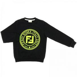Fendi crewneck sweatshirt with maxi FF Roma logo at Giglio