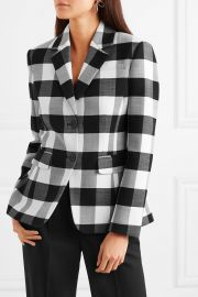 Fenice gingham wool-blend twill blazer at Net A Porter