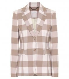Fenice checked stretch wool blazer at Mytheresa