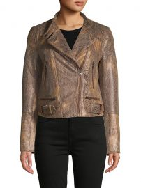 Fenix Snake Embossed Faux Leather Moto Jacket by Free People at Saks Off 5th