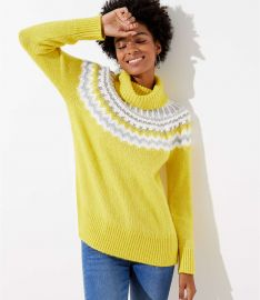 Fiarisle Turtleneck Sweater at Loft