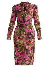 Fig-print silk-georgette midi dress at Matches