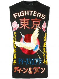 Fighters Crane Kanji T-shirt  Dsquared2 at Farfetch