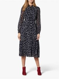 Filia Star Print Silk Flared Dress at John Lewis