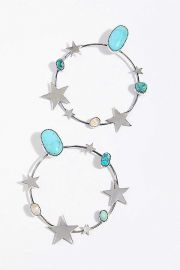 Find Your Stars Hoop Earrings by Paloma Stipp at Free People