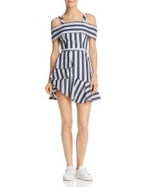 Finders Keepers Long Shot Striped Cold-Shoulder Mini Dress x at Bloomingdales