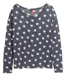 Fine-knit Sweater in black at H&M