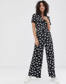 Finery Alida winter feathers print jumpsuit   ASOS at Asos
