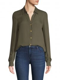 Fiona Silk Shirred Sleeve Blouse at Saks Fifth Avenue