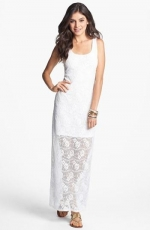 Fire Lace Tank Maxi Dress at Nordstrom