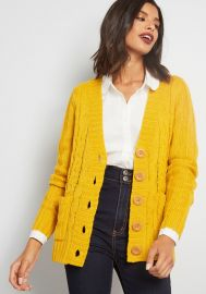 Fireside c able knit cardigan at ModCloth