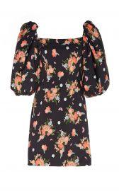 First Impressions Floral-Print Stretch-Cotton Mini Dress at Moda Operandi