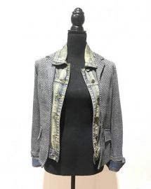 Fish Bone Jeans Jacket by Baci at Baci Fashion