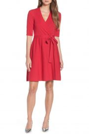 Fit & Flare Wrap Sweater Dress by Eliza J at Nordstrom Rack