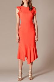 Fit and Flare Ruffle Dress by Karen Millen at Karen Millen