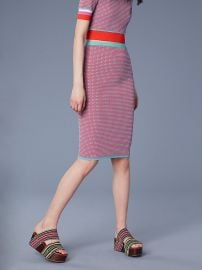 Fitted Jacquard Pencil Skirt at DvF