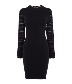 Fitted Knit Dress at Karen Millen