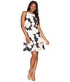Fitted A-Line Sleeveless Dress by Adrianna Papell at Zappos