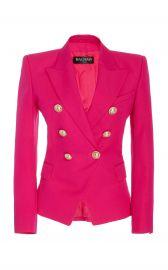 Fitted Classic Wool Blazer at Moda Operandi